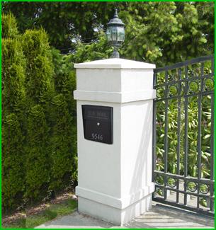 column mount mailbox