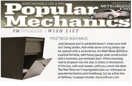 Popular Mechanics Reviews MailBoss