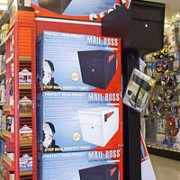 Mail Boss Endcaps in Hardware Retail Stores