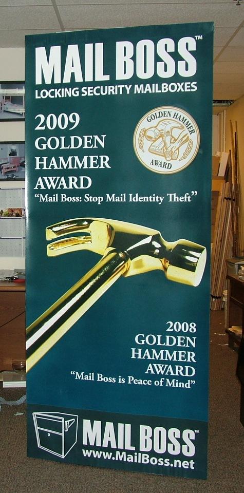 Mail Boss Golden Hammer Award Winning Poster