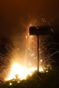 Mailbox Fireworks