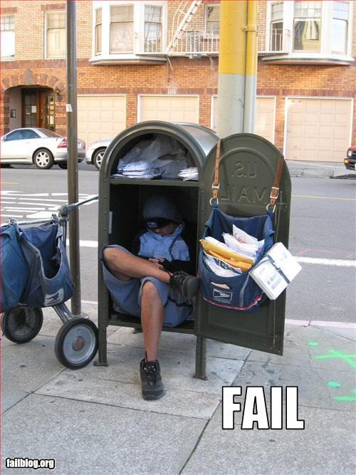 just for fun mail delivery fail mailboss. Black Bedroom Furniture Sets. Home Design Ideas