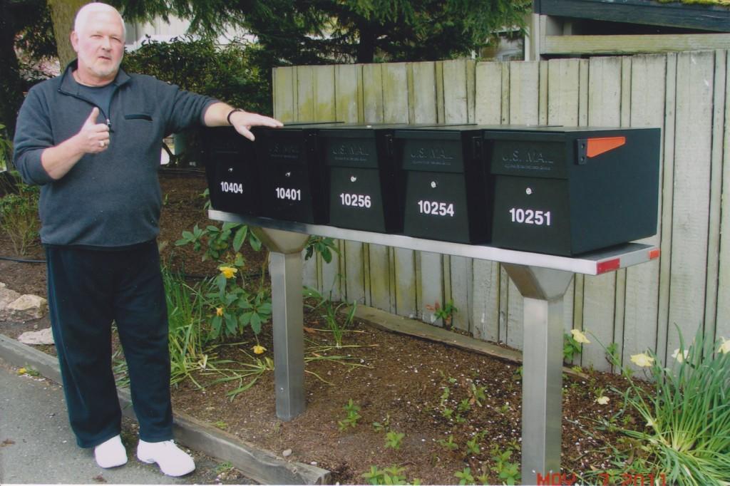 Mail Boss Multi-Box Steel Plank Installation