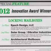 Mail Boss Wins Innovation in Locking Mailboxes Award