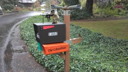 Just for Fun: Green Beret Squirrel Guards Mail Boss