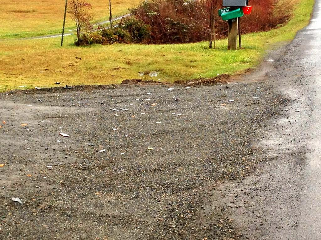 Tire Marks MailBoss Mailbox Collision