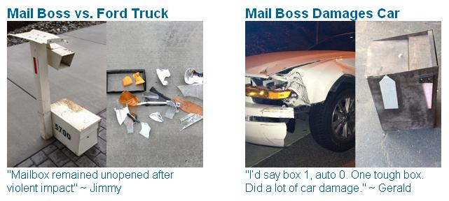 Mailbox Strength and Durability on Impact