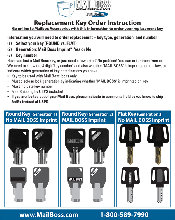 replacement key order instruction