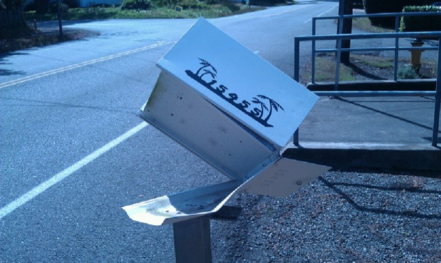Another Mail Boss Survives High Speed Collision