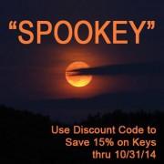 Halloween Sale – 15% Off Replacement Keys