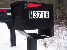 Mail Boss Mailbox hit by Snow Plow