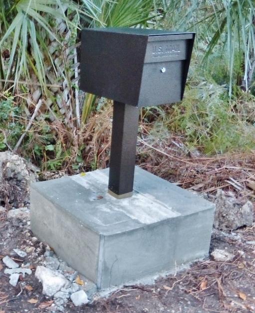 PHOTO: Above-Ground Bronze Mail Boss Mailbox Installation