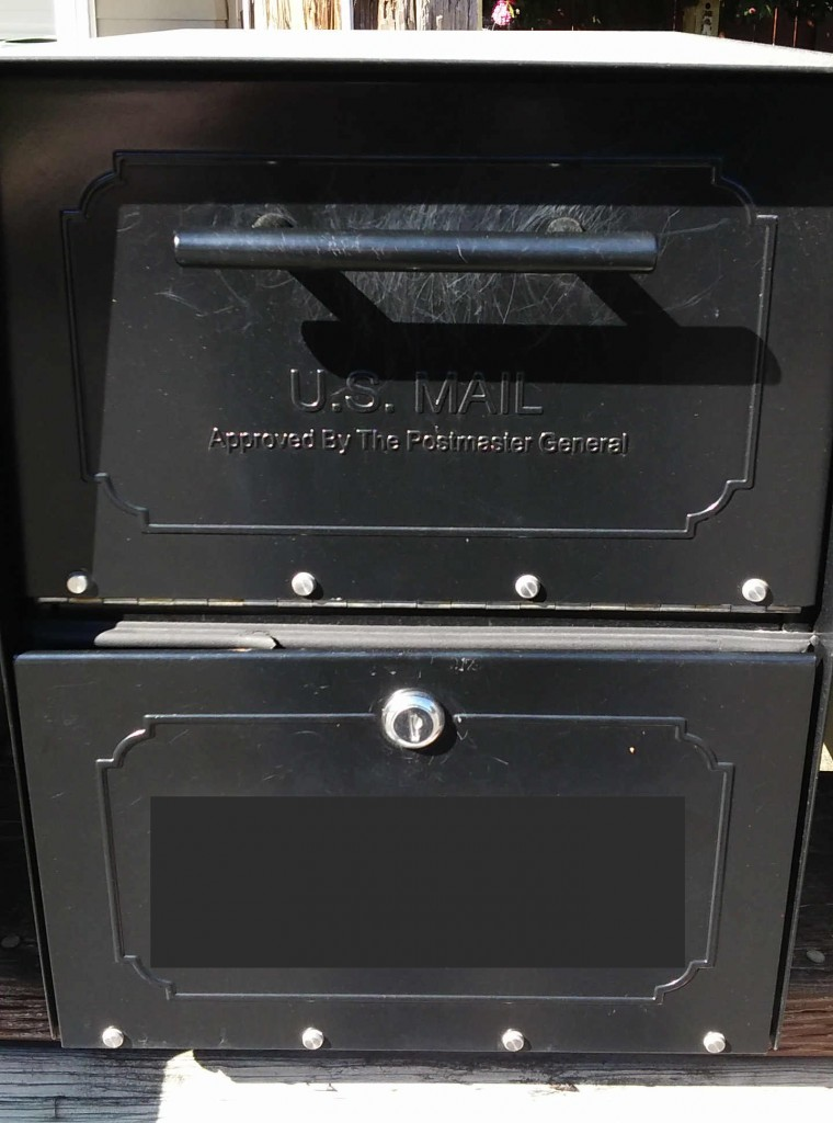 oasis mailbox pried open