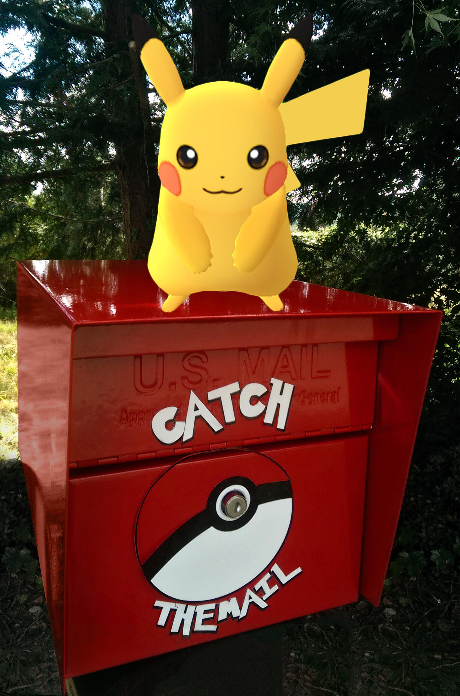 Pokeman Mailbox Catch the Mail Catch them All