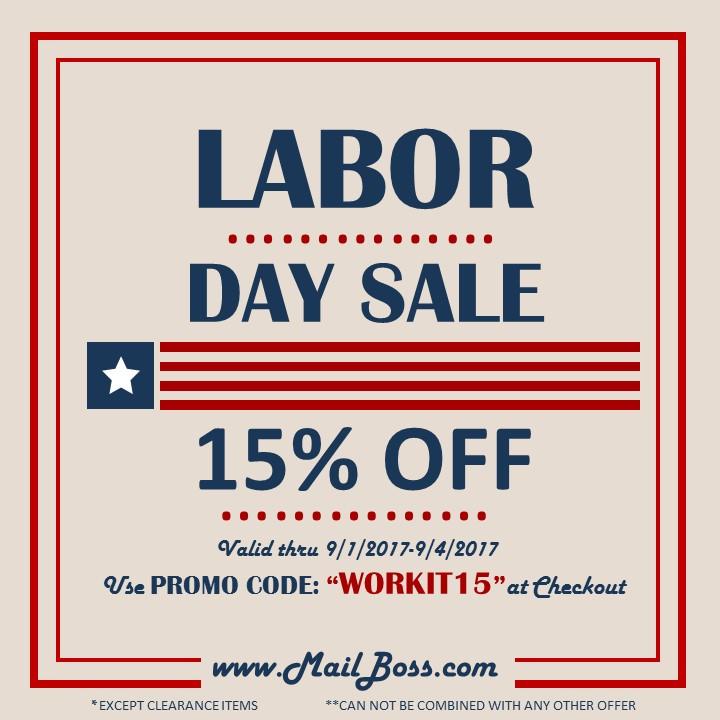 Labor Day Weekend Sale Mailboss