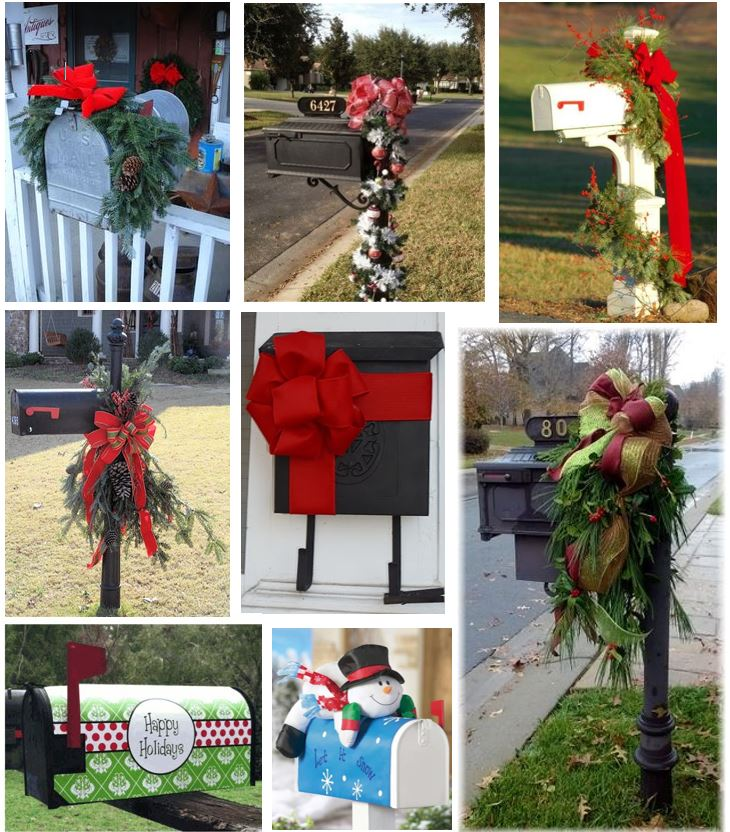 First, start making your own affordable mailbox decorations for Christmas. Here are couple DIY Youtube videos!