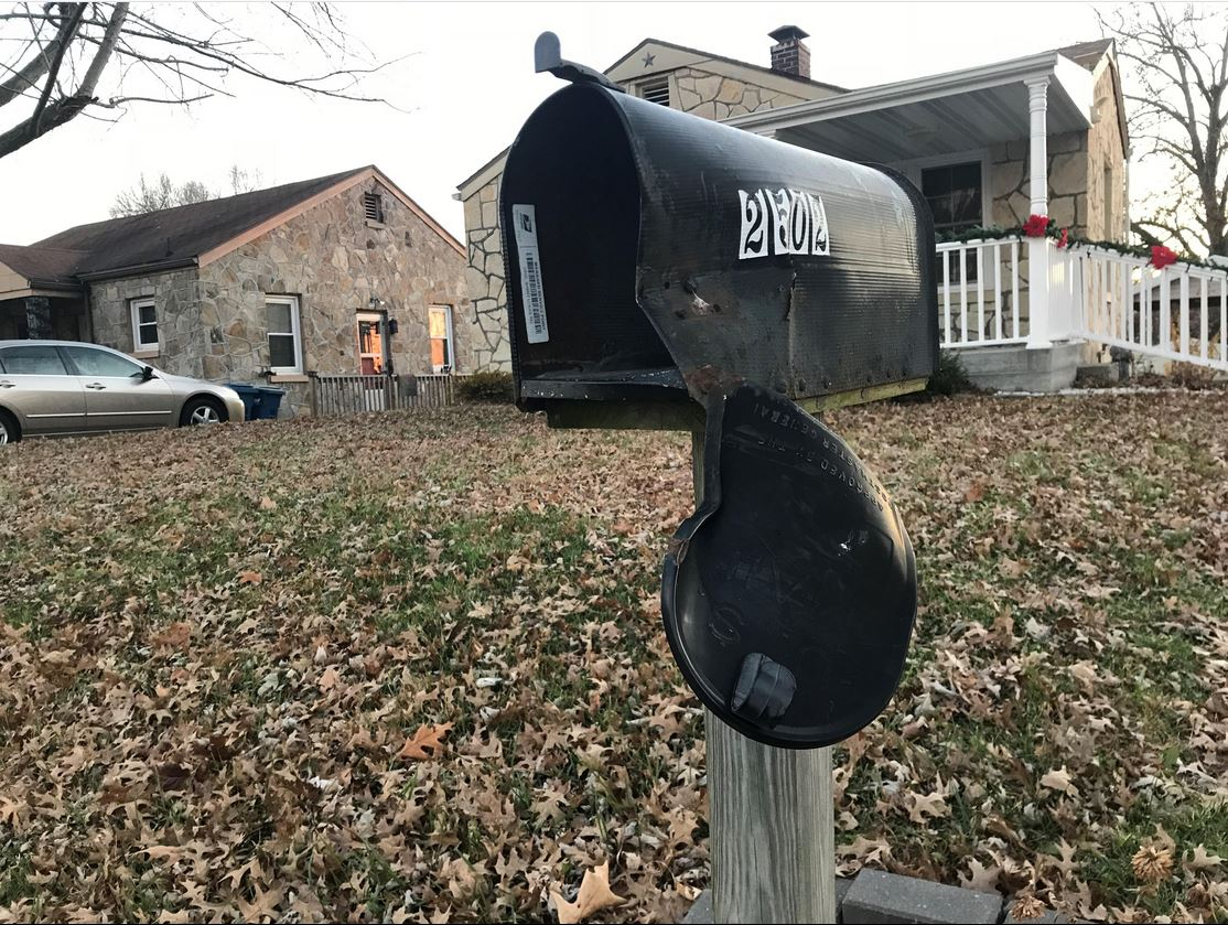 "Classic case of ""Mailbox Baseball"" in Jefferson City, MO"
