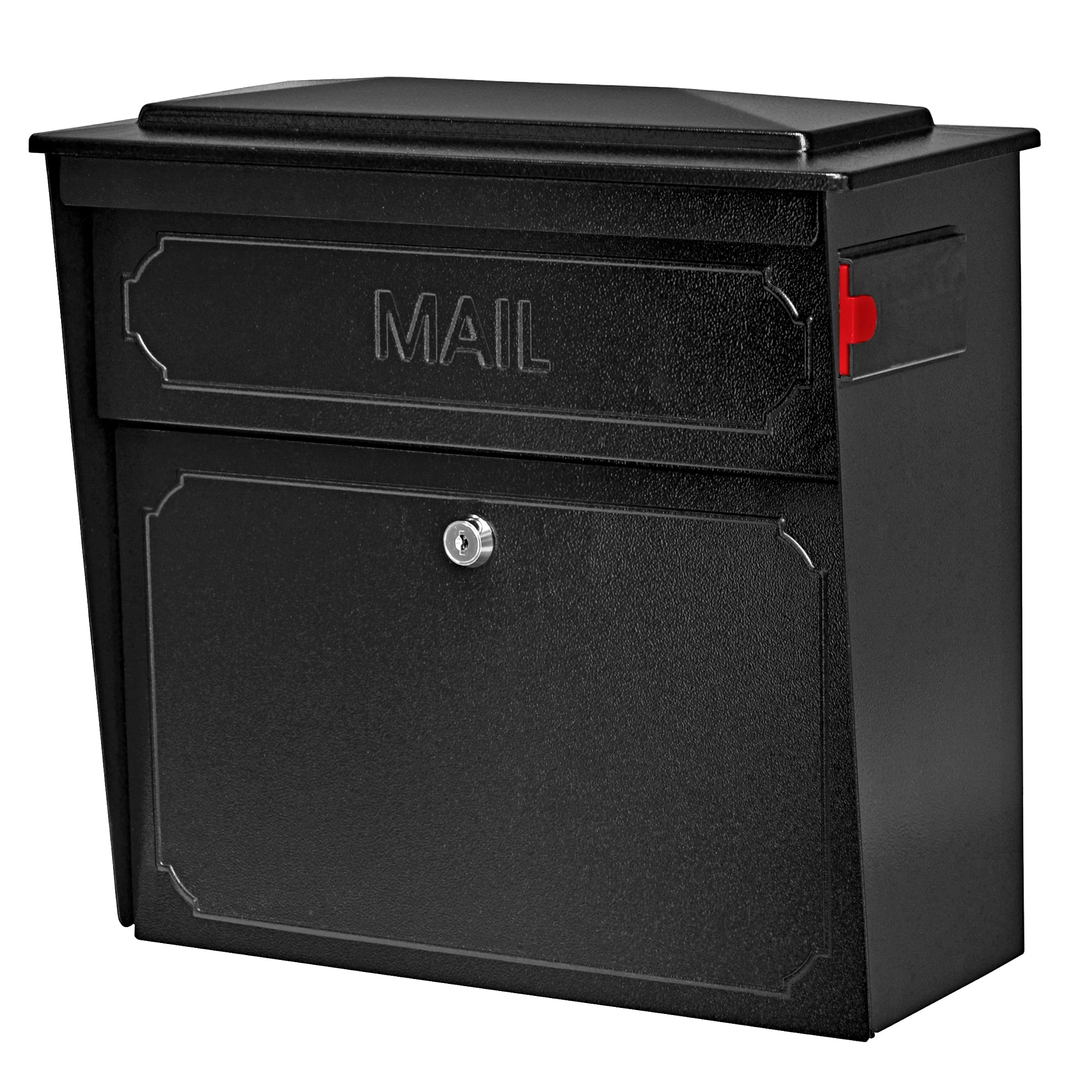 Picture of: Townhouse Mail Boss Locking Wall Mount Mailbox Mailboss