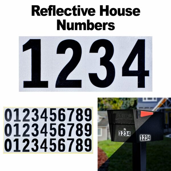 Reflective house numbers for mailbox, address numbers for mailbox outside Modern Architectural Epoch Design