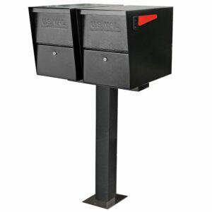 Mount two outdoor mailboxes with the easy to install double mailbox post spreader bar by mail boss