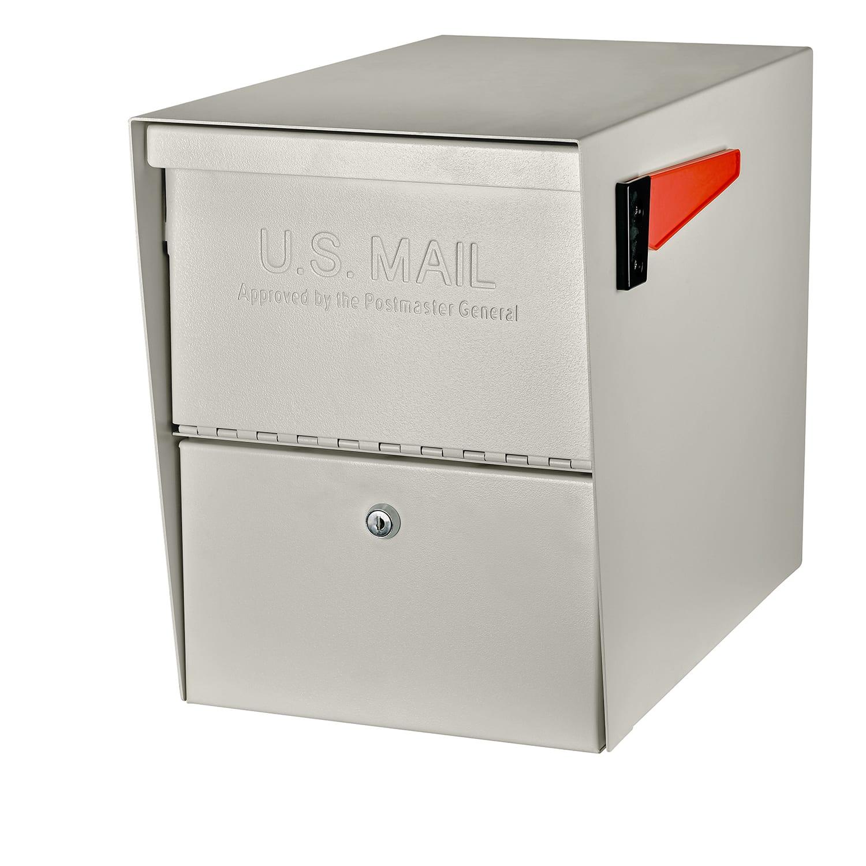 Mailbox Galvanized Steel Post Mount Jumbo Extra Large Parcel Residential Black