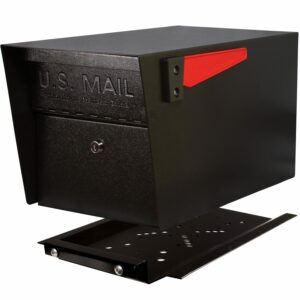 Easy to install universal hole pattern Modern contemporary Heavy duty Steel post mount parcel rural locking mailbox kit