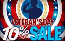 Discounts sales promotions veterans day sale 2020