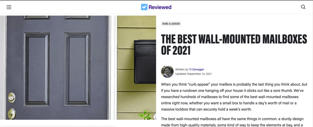 THE BEST WALL-MOUNTED MAILBOX