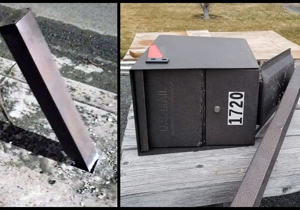 Packge Master Mailbox survives strike by drunk driver.