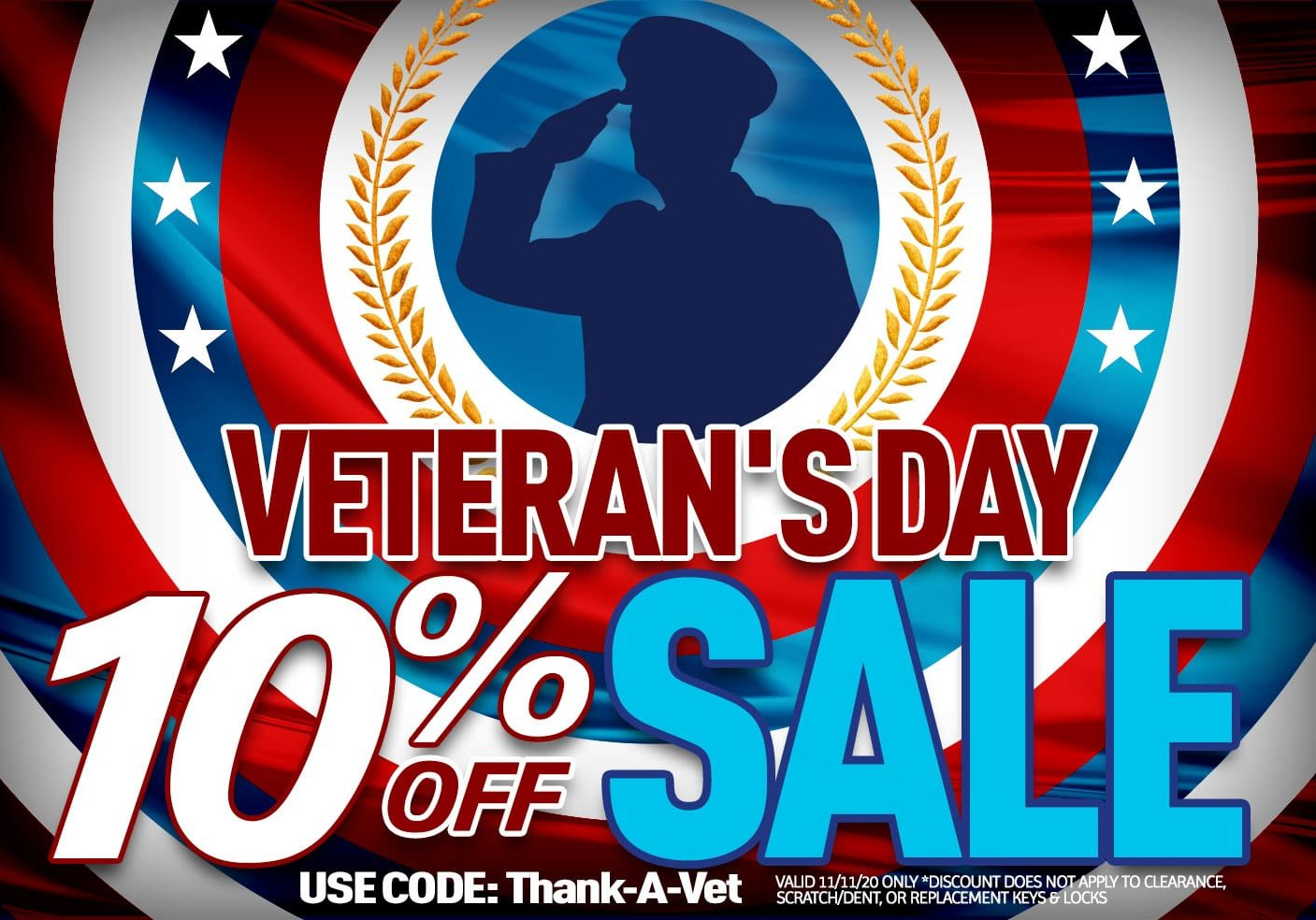 Discounts sales promotions veterans day sale 2020